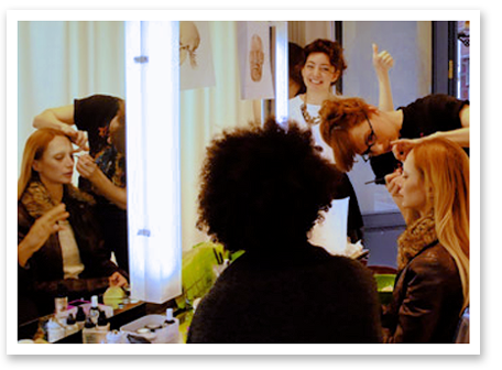 Training at Ruj Makeup Studio